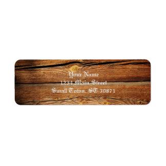 Regalos de madera del país del tablero de los etiqueta de remite