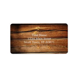 Regalos de madera del país del tablero de los etiquetas de dirección