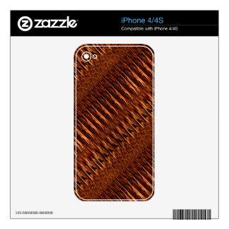 Regalos de madera frescos del modelo del diseño de skins para eliPhone 4