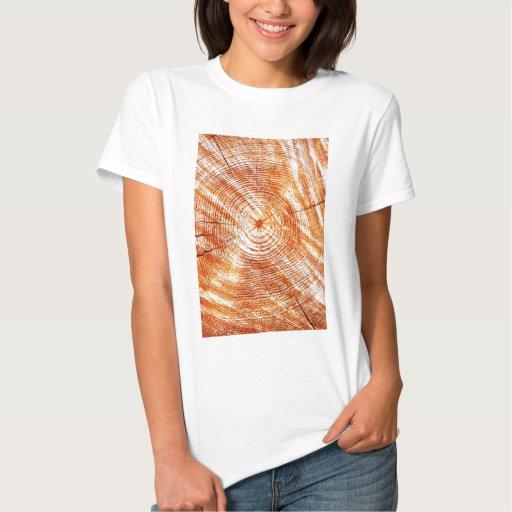 Regalos de madera rústicos del diseño de los anill camisetas