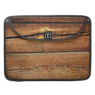 Regalos de madera rústicos del país del diseño de  fundas macbook pro