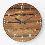Regalos de madera rústicos del país del diseño de  reloj de pared