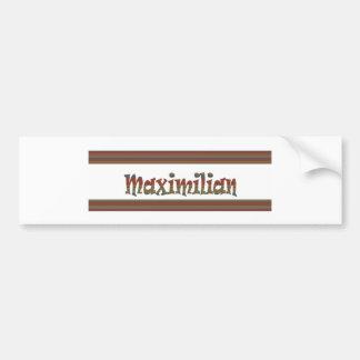 Regalos de MAXIMILIANO Maximiliano, saludos, S Pegatina Para Auto
