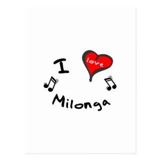 Regalos de Milonga - corazón Milonga de I Tarjeta Postal