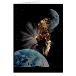 Regalos de motivación calvos de Eagle de las Tarjeta De Felicitación