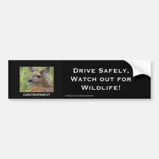 Regalos de motivación de los ciervos pegatina para auto