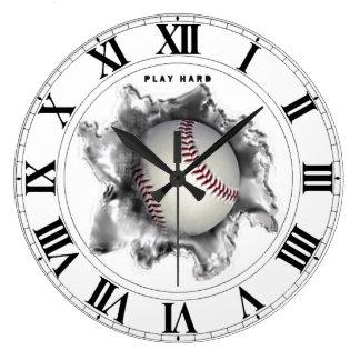 regalos de motivación del béisbol reloj redondo grande