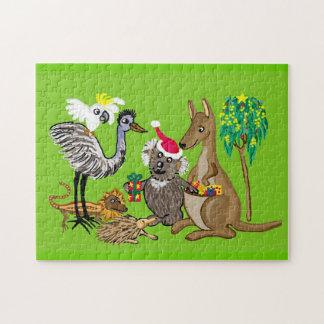 Regalos de Navidad de la koala de Santa Puzzle