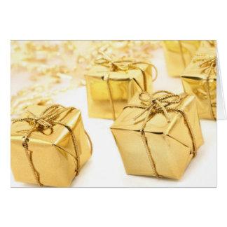 Regalos de Navidad del oro Tarjeta De Felicitación