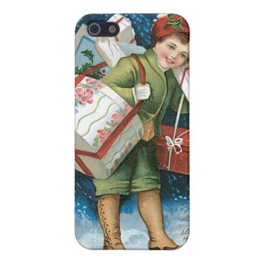 Regalos de Navidad del vintage iPhone 5 Cárcasas