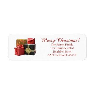 Regalos de Navidad Etiqueta De Remite
