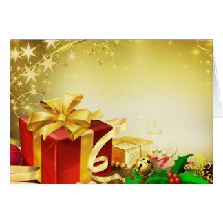 Regalos de Navidad y acebo Tarjeta De Felicitación