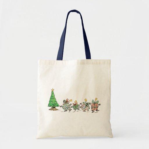 Regalos de Navidad y árbol del dibujo animado con Bolsa Tela Barata