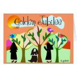 Regalos de oro del jubileo de la monja católica tarjetas