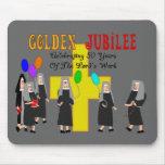 Regalos de oro del jubileo de las monjas alfombrillas de ratón