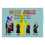 Regalos de oro del jubileo de las monjas felicitación