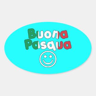 Regalos de Pascua para los altavoces italianos Bu Calcomanías Ovales Personalizadas