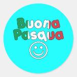 Regalos de Pascua para los altavoces italianos: Etiquetas Redondas