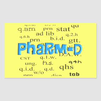 Regalos de Pharm-D del estudiante de la farmacia Pegatinas
