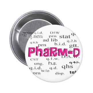 Regalos de Pharm-D del estudiante de la farmacia Pin Redondo 5 Cm