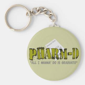 Regalos de Pharm-D (estudiante de la farmacia) Llavero Redondo Tipo Pin