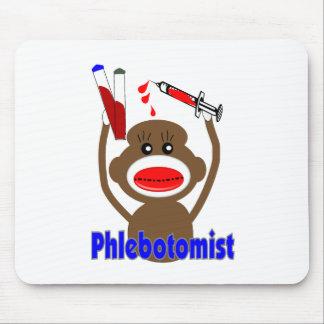 Regalos de Phlebotomist del mono del calcetín--Ado Tapetes De Raton