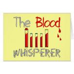 "Regalos de Phlebotomist ""el Whisperer de la sangre Tarjetas"