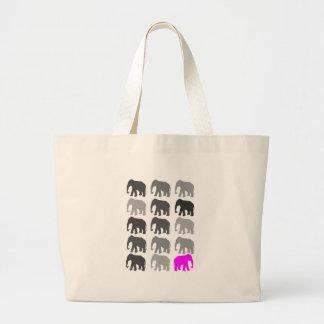 Regalos de PopArt del elefante Bolsa Tela Grande