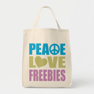Regalos de promoción del amor de la paz bolsa tela para la compra