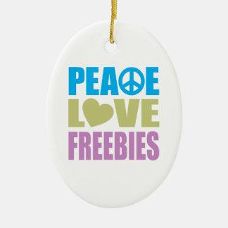 Regalos de promoción del amor de la paz adorno ovalado de cerámica