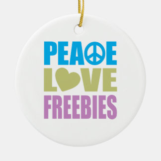 Regalos de promoción del amor de la paz adorno redondo de cerámica