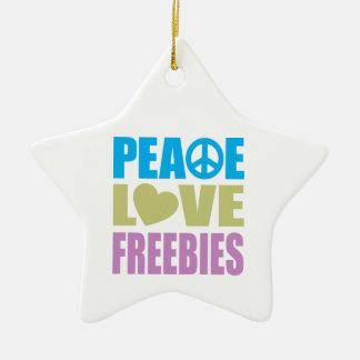 Regalos de promoción del amor de la paz adorno de cerámica en forma de estrella