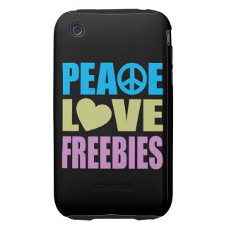 Regalos de promoción del amor de la paz iPhone 3 tough coberturas