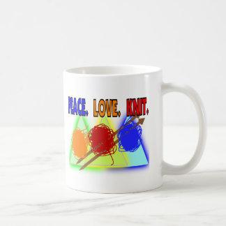 Regalos de punto de los amantes taza de café