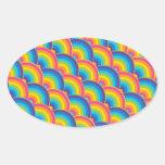 Regalos de repetición coloridos del modelo del colcomanias ovaladas