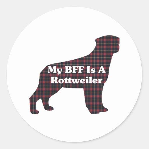 Regalos de Rottweiler BFF Pegatina Redonda
