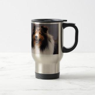 Regalos de Sheltie del perro pastor de Shetland Taza Térmica