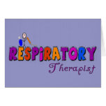 Regalos de Stickman del terapeuta respiratorio Tarjeta