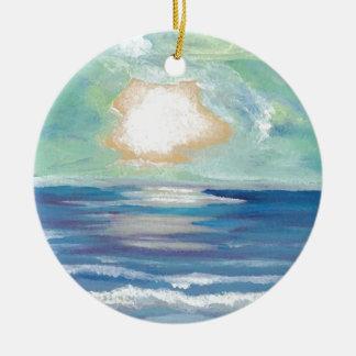 Regalos de Sun de la resaca del mar del océano de  Adornos De Navidad