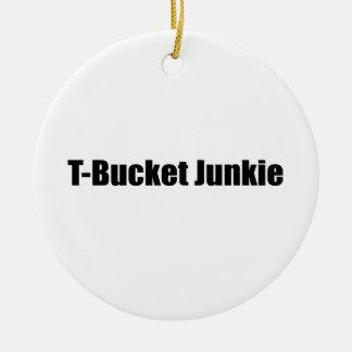 Regalos de Tbucket del drogadicto de Tbucket por Adorno Navideño Redondo De Cerámica
