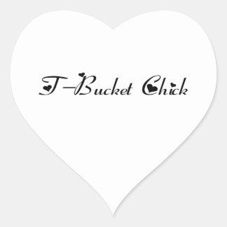 Regalos de Tbucket del polluelo de Tbucket por Pegatina En Forma De Corazón
