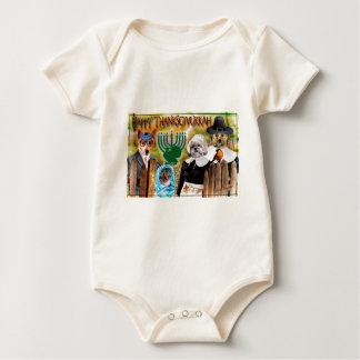Regalos de Thanksgivukkah Trajes De Bebé