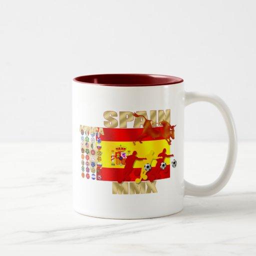 Regalos de Toro del toro España de la bandera Taza De Café De Dos Colores