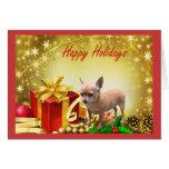 Regalos de vacaciones de la tarjeta de Navidad de