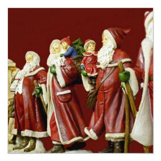 """Regalos de vacaciones de Nick del santo de Santas Invitación 5.25"""" X 5.25"""""""