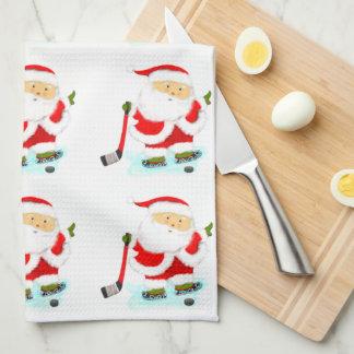 regalos de vacaciones del hockey toalla de cocina