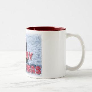 Regalos de vacaciones del salto del espía de la taza de café de dos colores