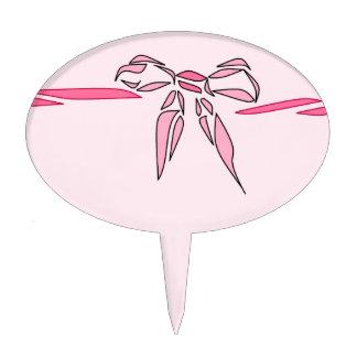 Regalos decorativos de la cinta del arco rosado figuras para tartas