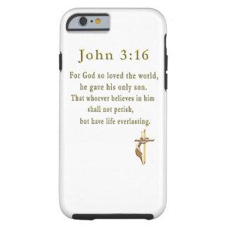 Regalos del 3:16 de Juan Funda De iPhone 6 Tough