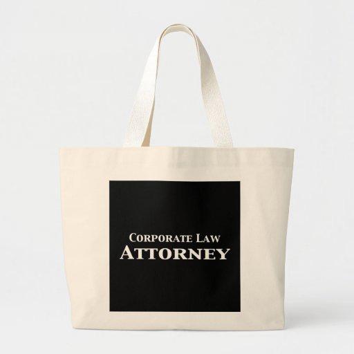 Regalos del abogado de la ley corporativa bolsa tela grande